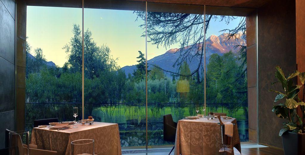 Heerlijk eten met een geweldig uitzicht
