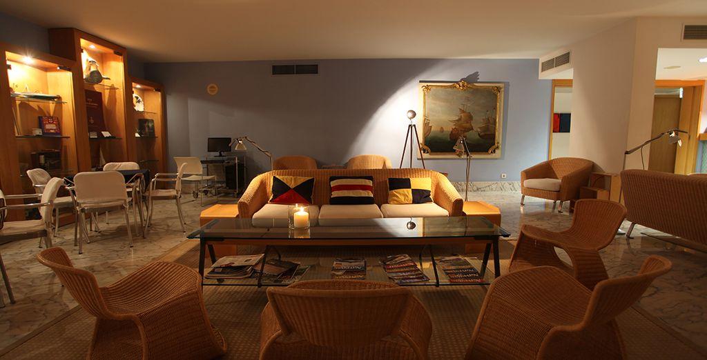 Neem plaats in een charmant hotel