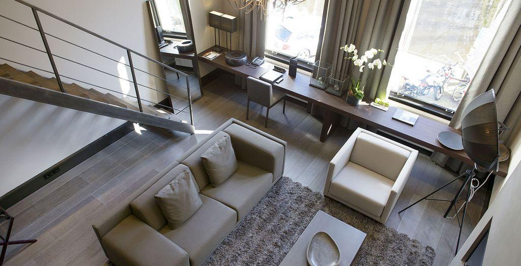 U verblijft in een Luxury Duplex Kamer