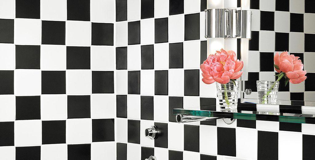 Met een trendy badkamer