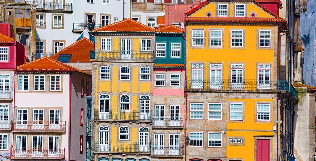 In het hart van het historische centrum van Porto