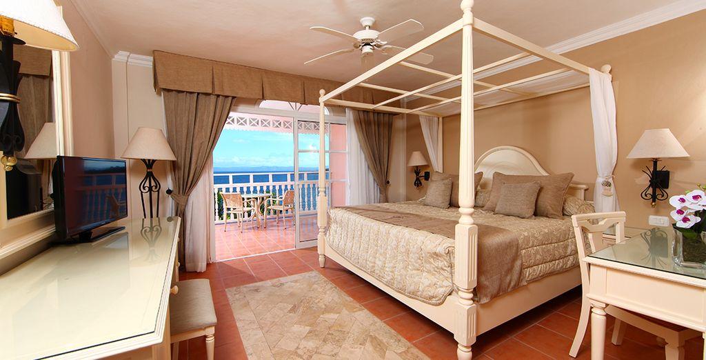 De charme van uw Superior Room met uitzicht op zee