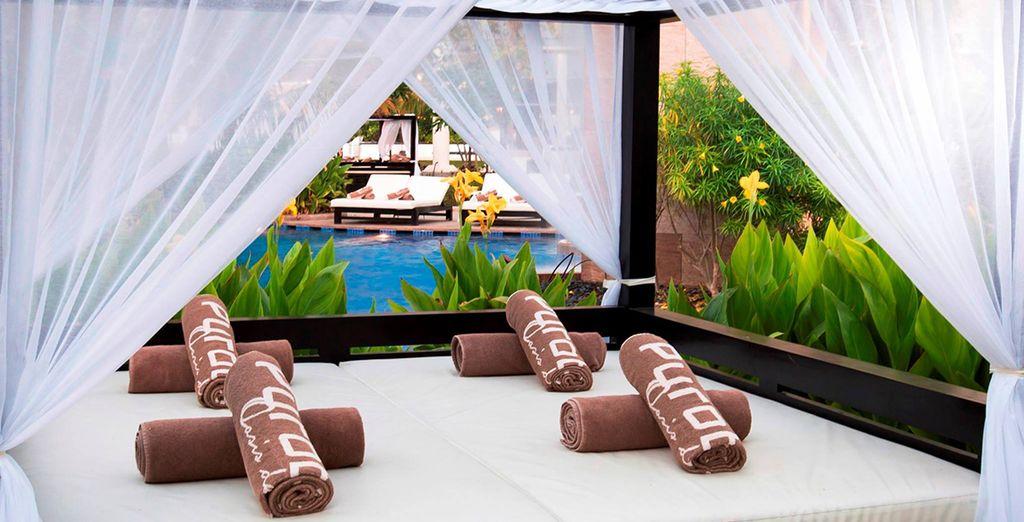 Of op de Balinese bedden