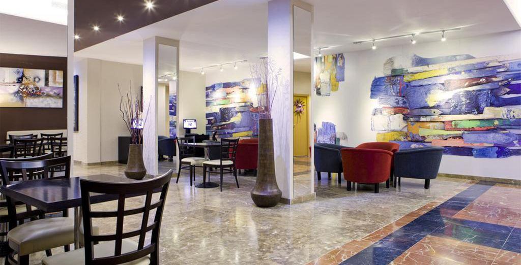 Dit elegante hotel heeft een mediterrane sfeer