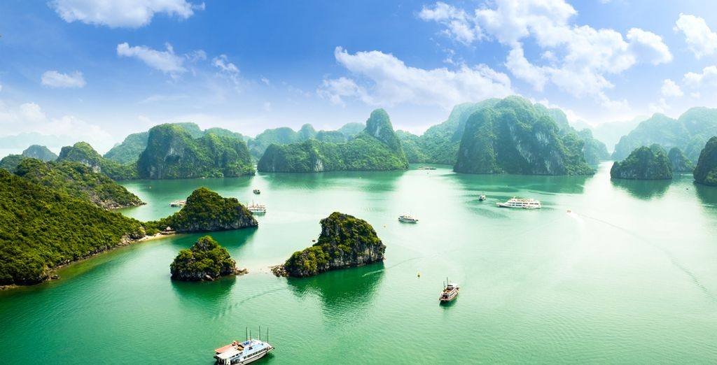 Over de beroemde Ha Long Bay