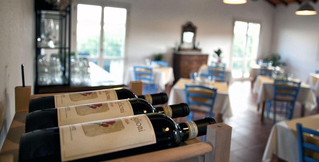 Om de wijnen in Campiglioni te proeven