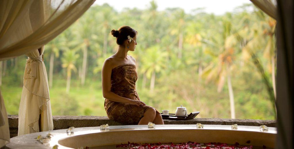 Om te genieten van de ontspannende spa