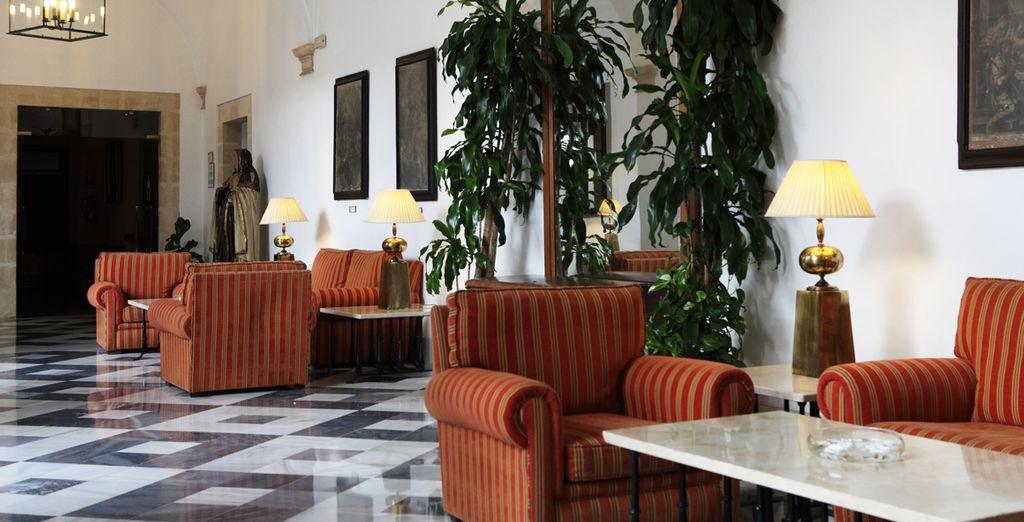 Kom tot rust in de lobby