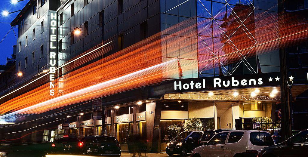 U verblijft in het Antares Hotel Rubens Milan