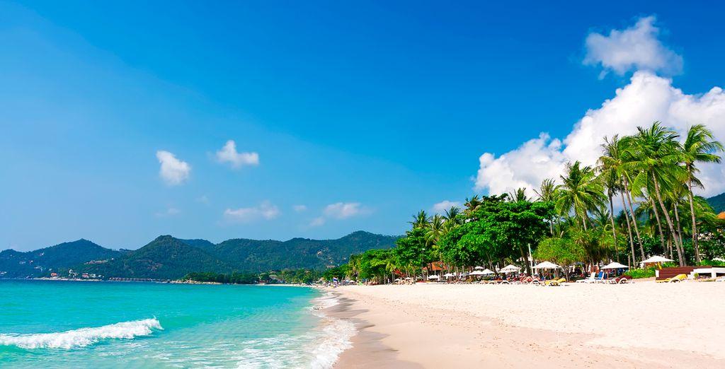 Gelegen op het puntje van het ongerepte strand van Koh Samui Chaweng