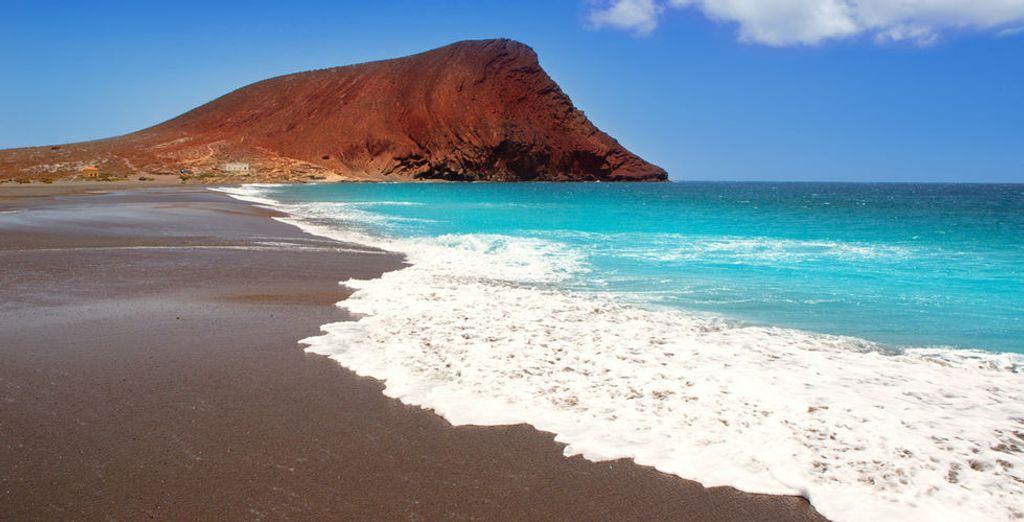 Of richting het Tejita, één van de beste stranden op Tenerife!