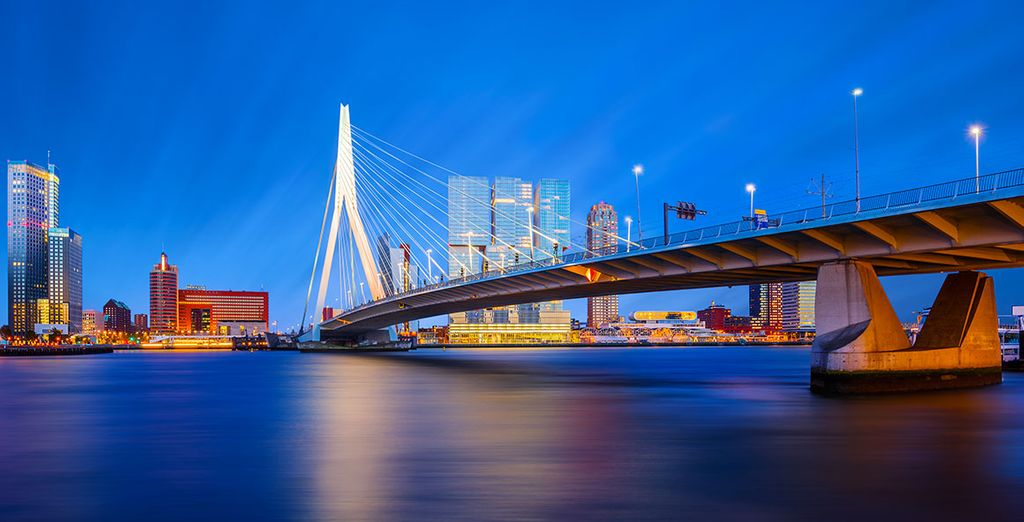 In de havenstad Rotterdam