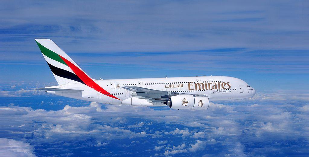 Pour que tout soit parfait, choisissez en option de voyager avec la compagnie Emirates