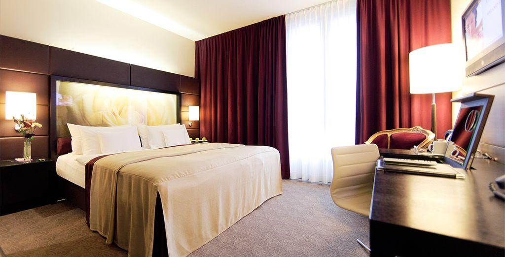 Overnacht in een kamer vol comfort en elegantie