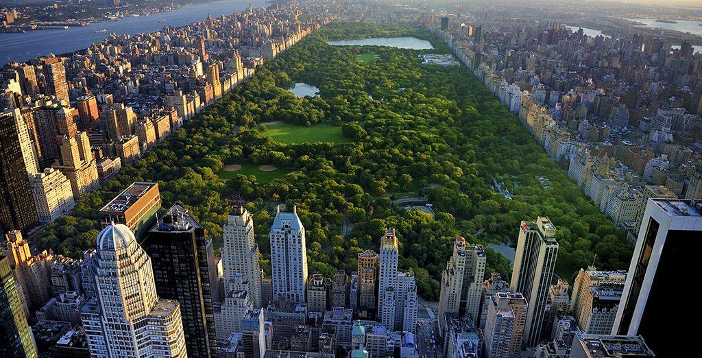 Met zicht over Central Park