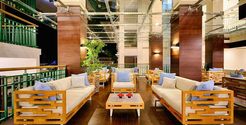 De lobby lounge om even tot rust te komen
