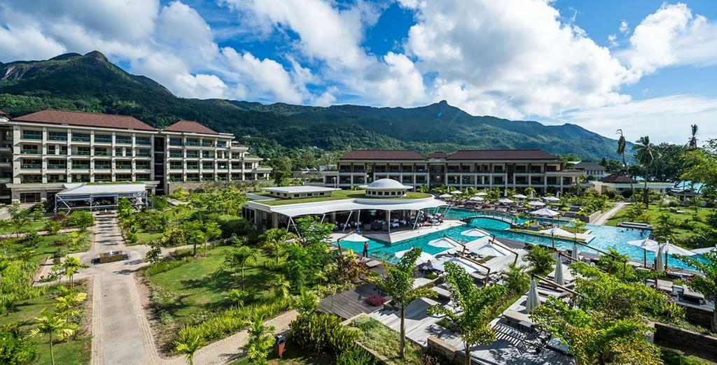 Een luxe resort in een prachtige omgeving