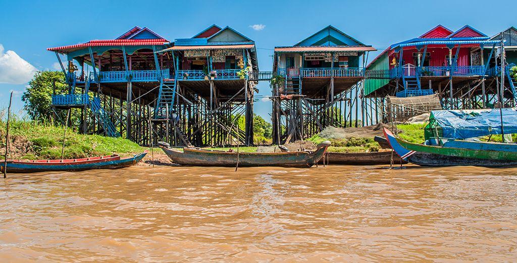 Observeer het lokale leven aan de oevers van Tonle Sap