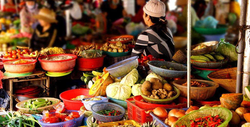 Profiteer van de gelegenheid om de lokale smaken te proeven