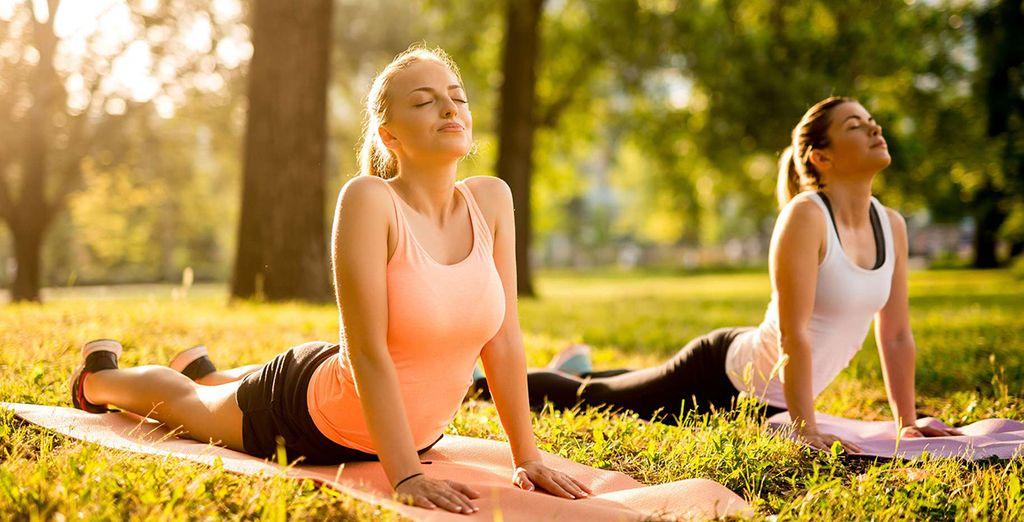 Dankzij de yogalessen blijft u helemaal zen