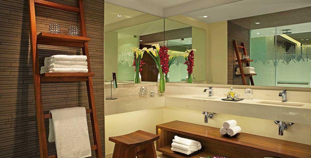 Met een badkamer van zeer hoge kwaliteit