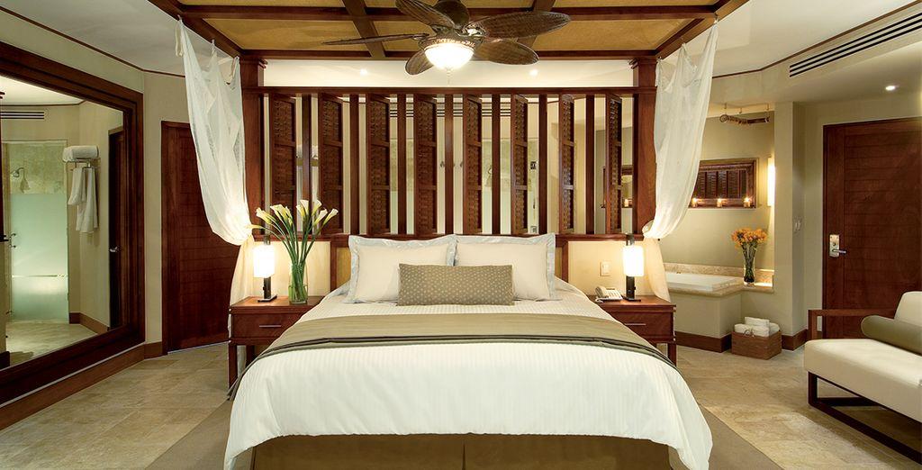 U logeert hier in een Premium Deluxe Tropical Kamer met tuinzicht
