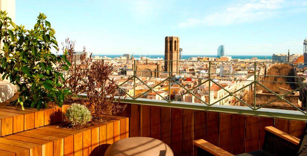 Aan Las Ramblas in Barcelona