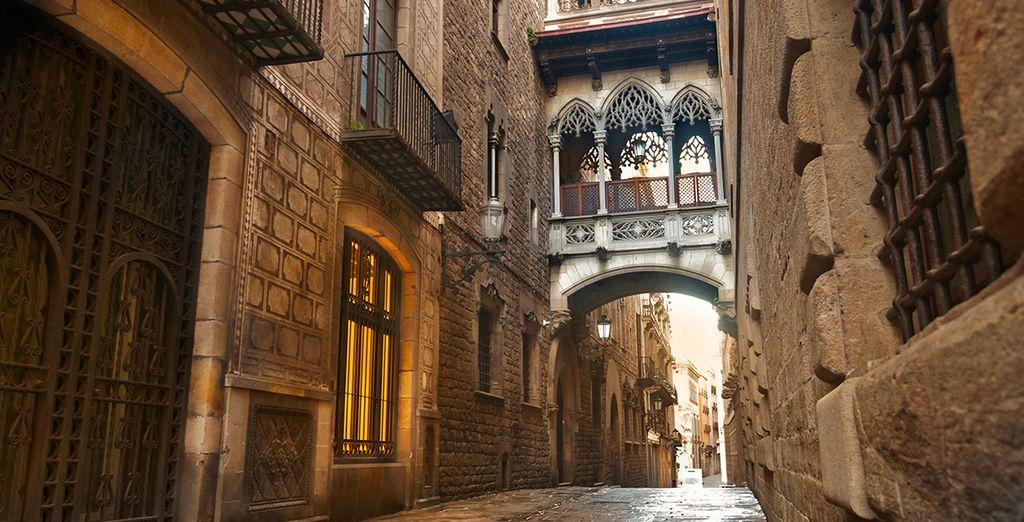 De straatjes van de wijk Barrio Gothic