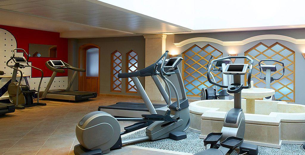 Of wees actief in de fitnessruimte