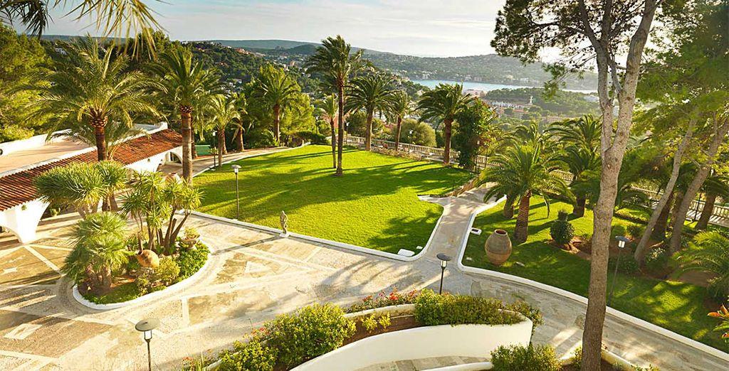 Een chic resort met prachtige uitzichten
