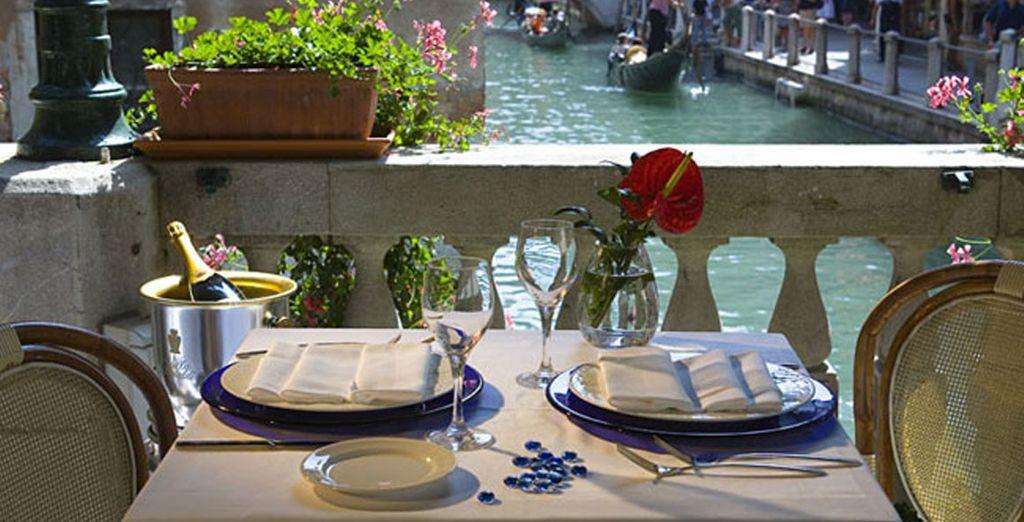 Een romantisch diner....