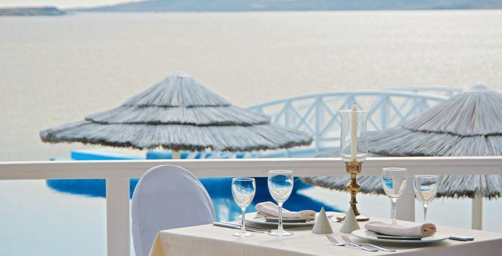 Geniet van heerlijke gerechten in een romantische omgeving