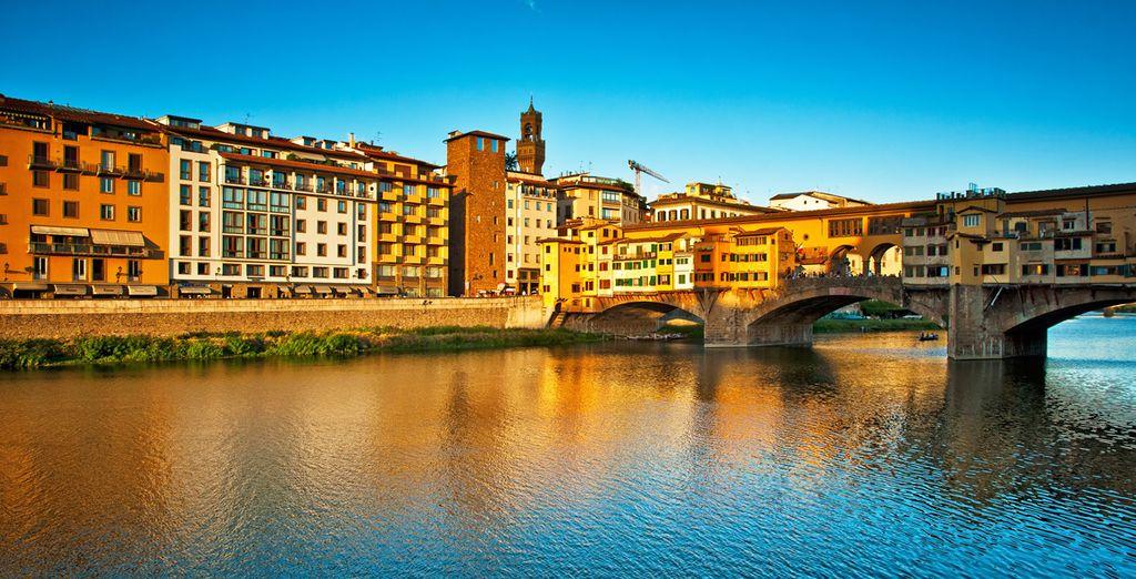 Vertrek vervolgens op ontdekking van de Ponte Vecchio