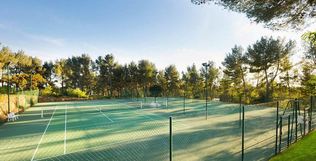 Of de tennisbaan