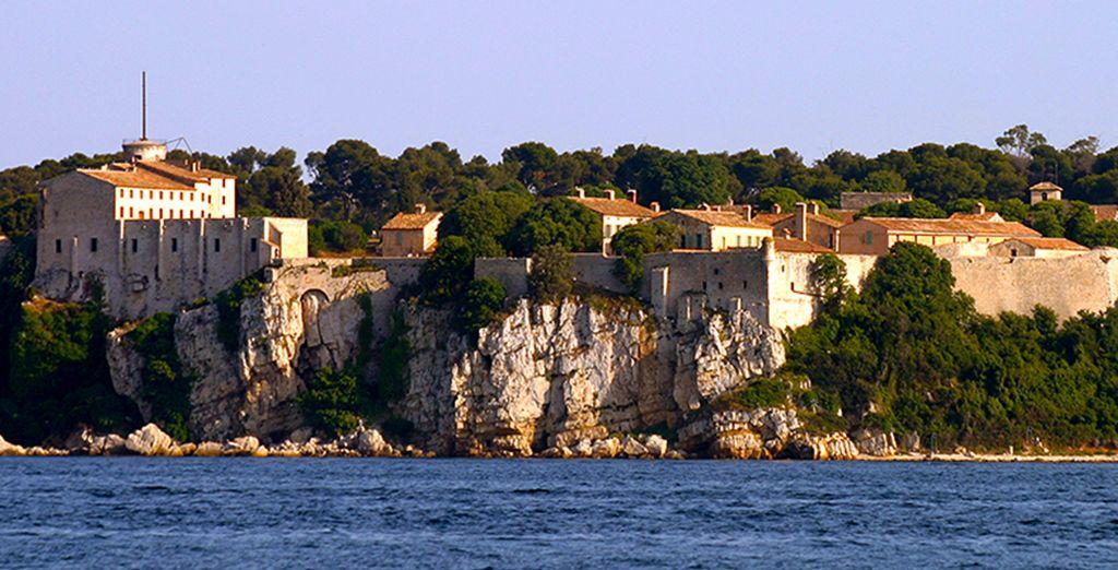 Met uitzicht op de Lérins-eilanden