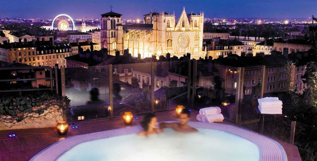 Or in the jacuzzi with a view!