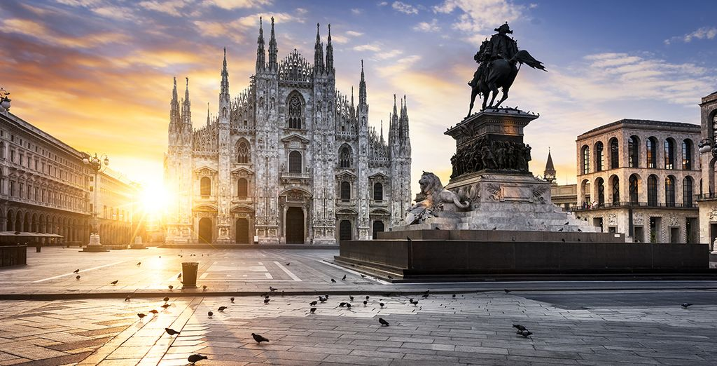 The beautiful city of Milan