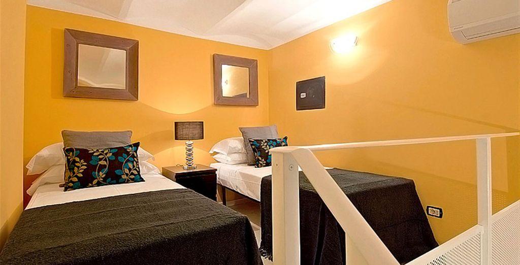 Apartment 5: 1 mezzanine twin bedroom