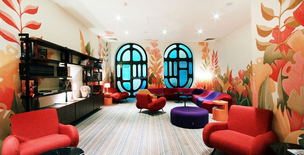 And its multicoloured interior decor