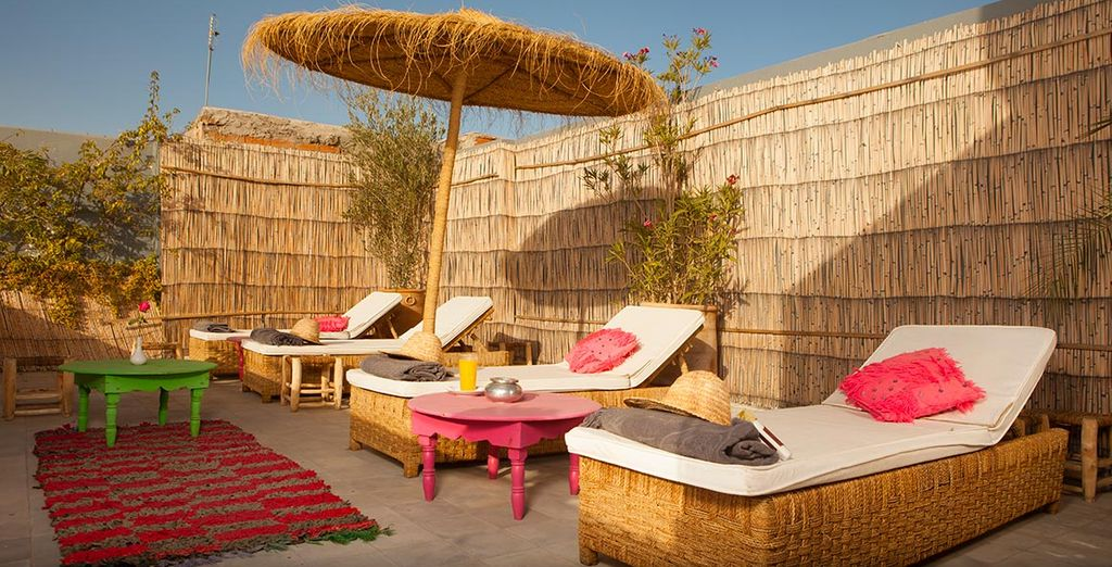 Unwind in total peace and quiet on the terrace