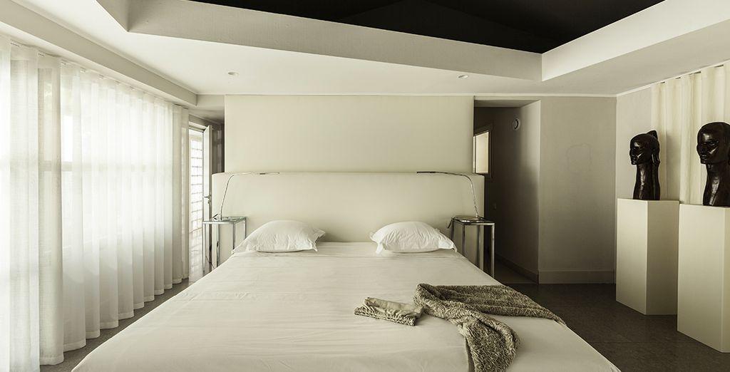 Each bedroom boasts a fresh, minimalist style
