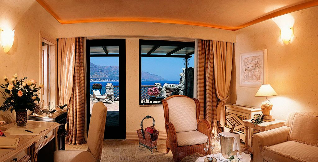 The rooms boast beautiful views of the surrounding scenery
