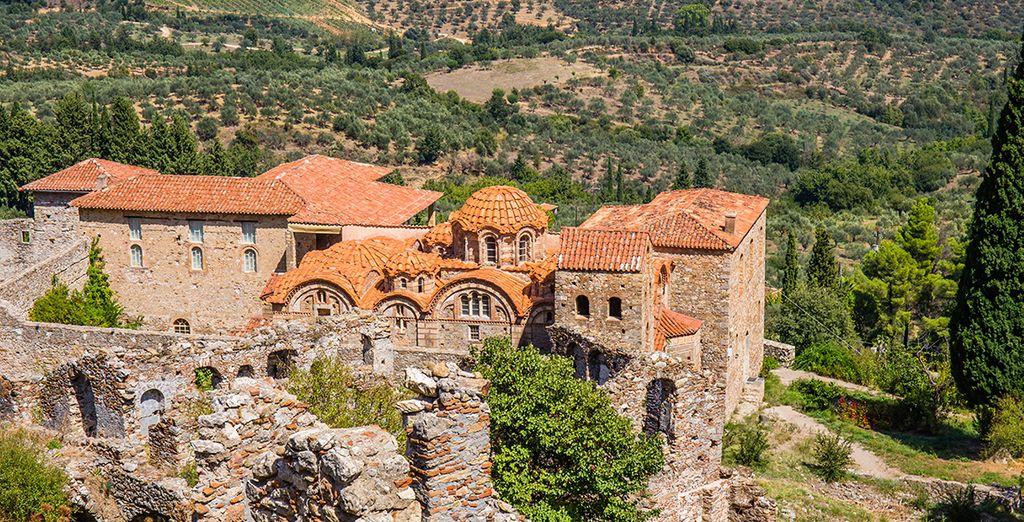To the Byzantine city of Mystra, near Sparta