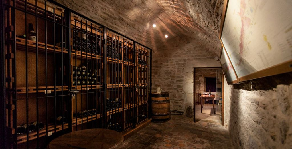 Carefully preserved in the chateau's centuries-old wine cellars