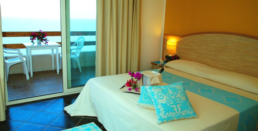 Your room includes wonderful sea views