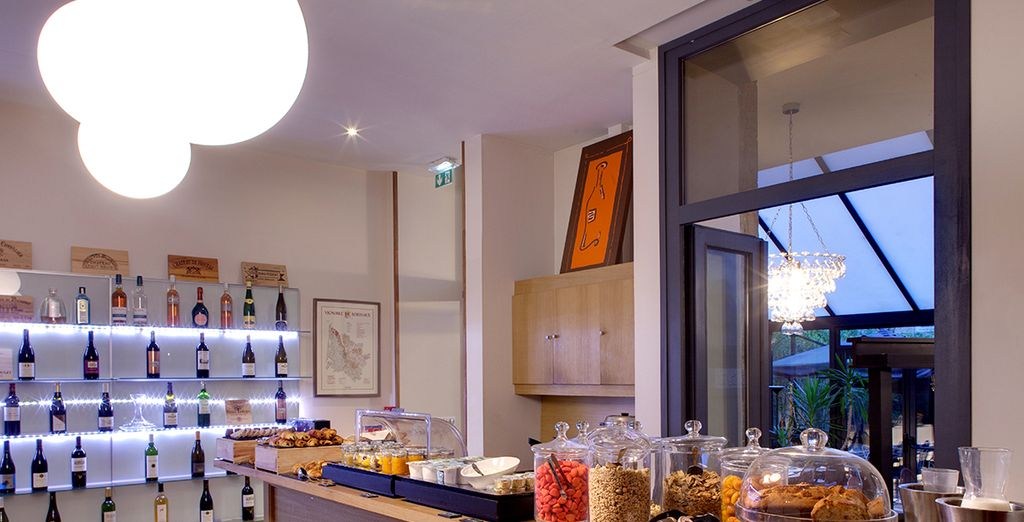 Each morning, tuck into a sumptuous breakfast prepared by the hotel