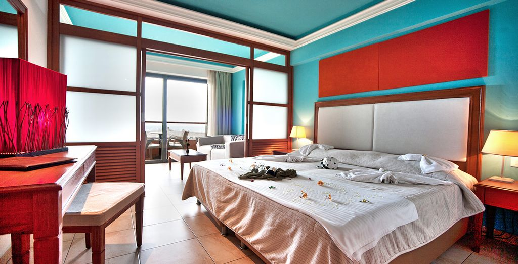 Our members will stay in a Family Sea View Room