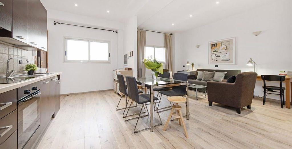 Apartment 6: The 6th apartment offers crisp contemporary living