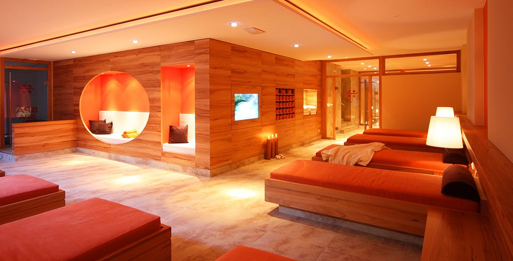 Be sure to visit the 500 sqm of relaxation and wellness