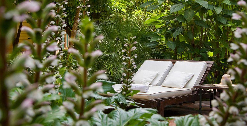 Unwind in the hotel gardens